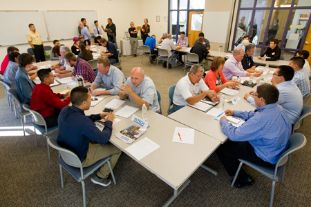 Students from participating high schools in employer interviews. Image provided by Pima County.