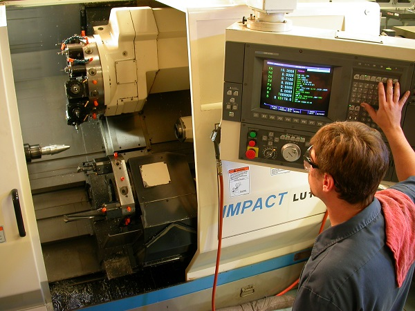 Employee at Hi-Tech Machining.