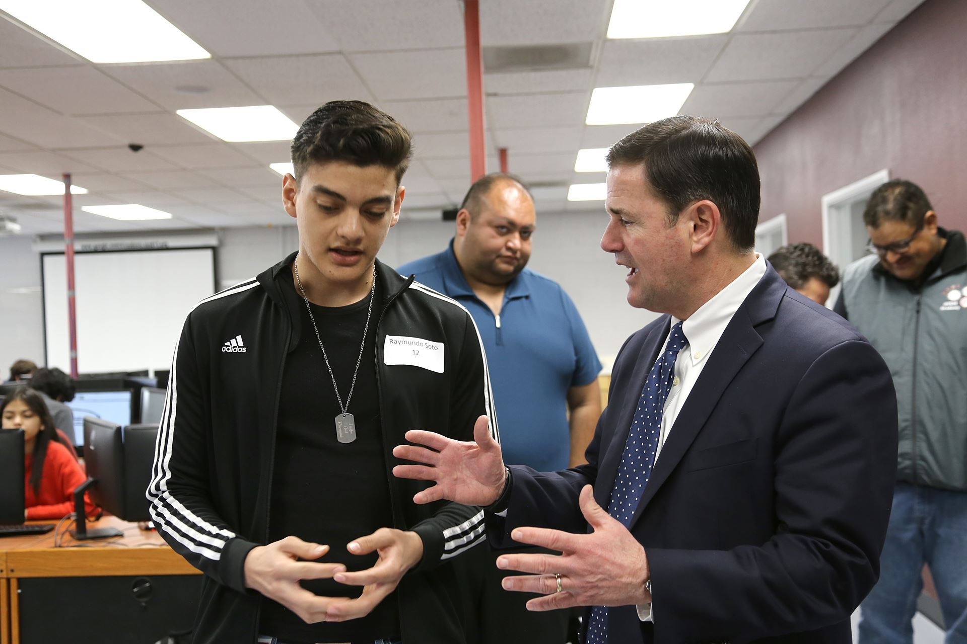 Governor Ducey Visits Desert View